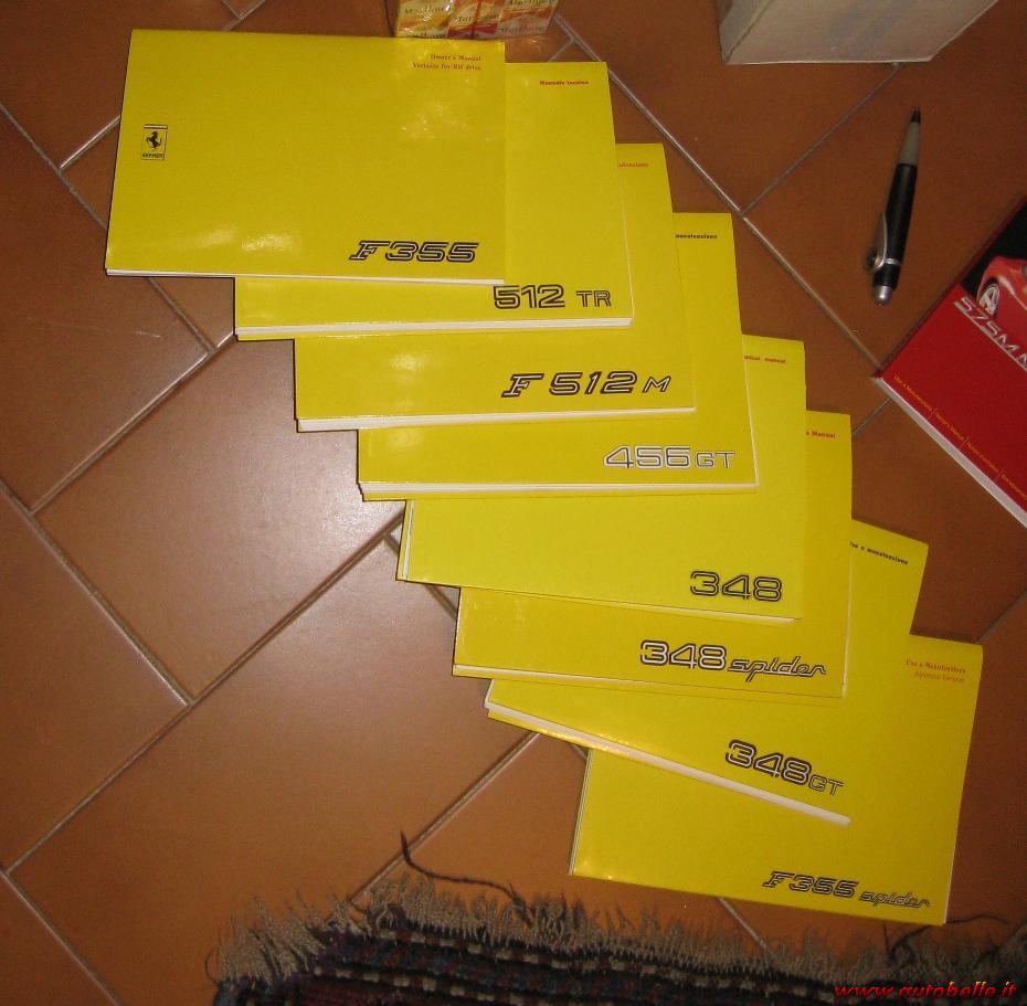 Vendo Manuali d'uso e manutenzione Ferrari