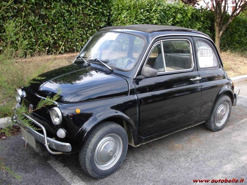 Fiat 500 L Del 1970 Nera Tutta Originale Rara