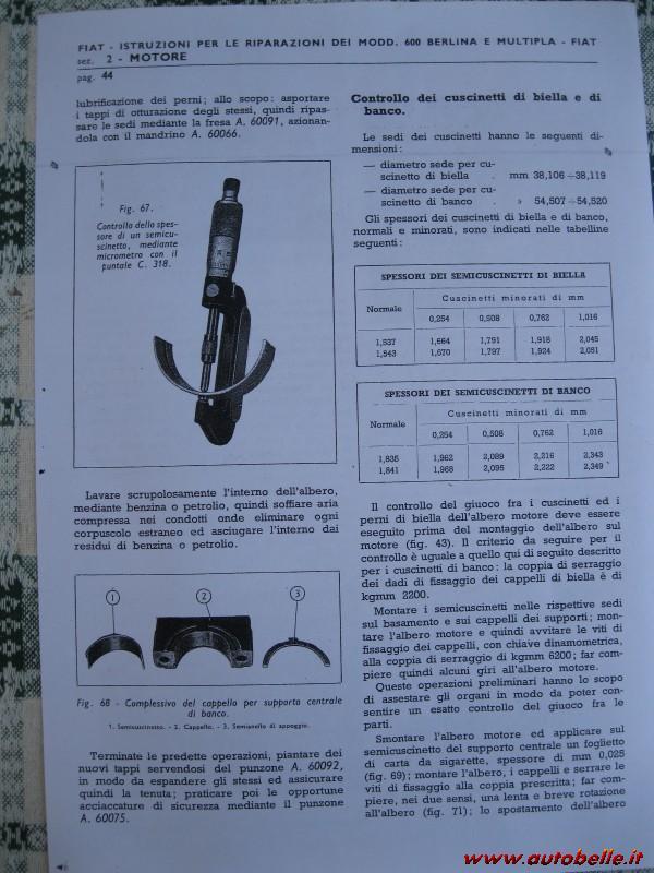 Vendo Manuale Uso Officina Fiat 600 D U0026 39 Epoca Anni 50