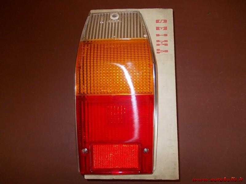 Lente Gemma Luce Plastica Fanalino Posteriore Destro Arancione Rossa Fiat 126