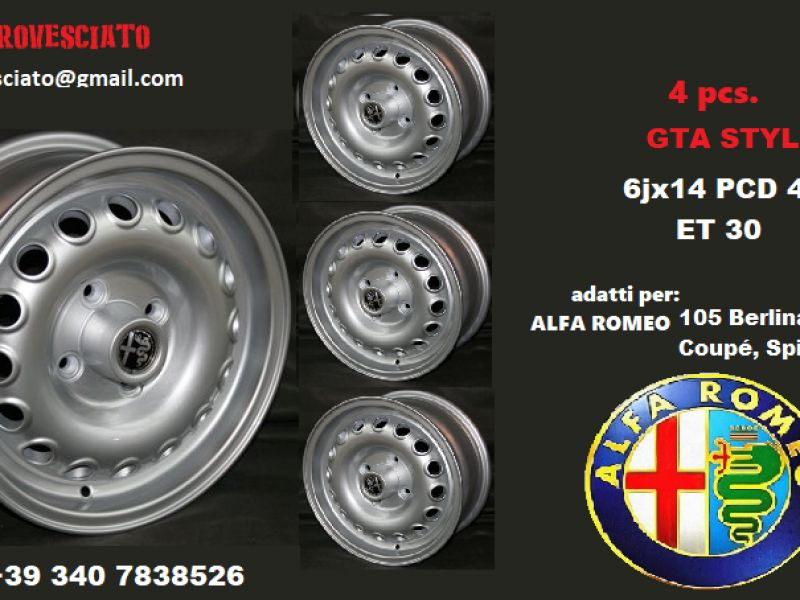 Rims for Alfa romeo 105 GTA 6x14 4x108